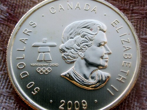 Palladium Maple Leaf Coin with Queen Elizabeth on the Face