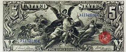 Historic US $5 bill