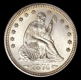 1874 dollar coin