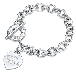 Sterling silver bracelet on white background. Sell silver jewelry image.